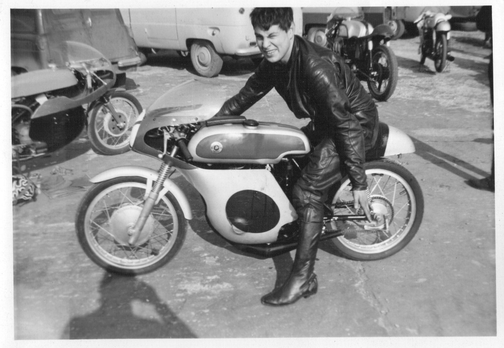 March 1963 125cc 6 speed air cooled TSS Bultaco tuned by Frank Sheen (Barry was about 11)