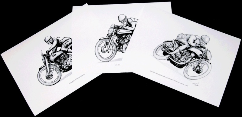 Vincent racing drawings/prints